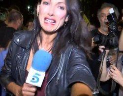 Agreden a una reportera de Telecinco durante el aniversario del 1-O en Cataluña