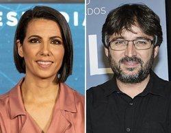 """Gritos de """"fuera, fuera"""" a Ferreras, Ana Pastor y Jordi Évole en el acto de VOX en Vistalegre"""