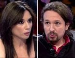 """Cruce de """"pullas"""" entre Pablo Iglesias y Marta Flich por la polémica del sofá: """"Fue ironía"""""""