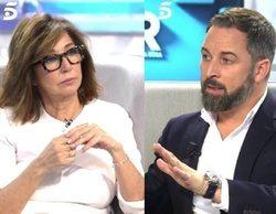 """Ana Rosa comunica en directo a Santiago Abascal la fecha de la exhumación de Franco: """"Es una profanación"""""""