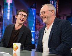 Isaac Hempstead-Wright y Liam Cunningham en 'El hormiguero':