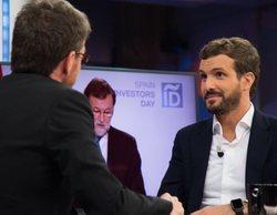 Las evasivas de Pablo Casado para no contestar a la pregunta de VOX en 'El hormiguero'