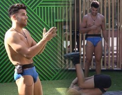 Adara, sorprendida ante el paquete de Pol mientras hace deporte con Gianmarco en 'GH VIP 7'