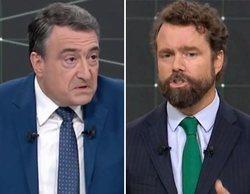 Aitor Esteban (PNV) niega el saludo a Iván Espinosa de los Monteros (VOX) tras el 'Debate a siete'