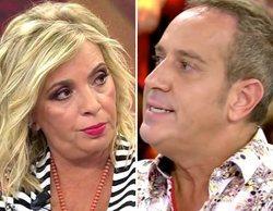 La Policía interviene en la grabación de 'Ven a cenar conmigo' de Carmen Borrego y Víctor Sandoval