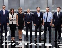 El 'Debate Electoral 4-N' lidera en La 1 con un 20,8% y firma un 13,6% en Antena 3 y un 13% en laSexta