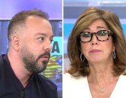 """Tensa discusión entre Ana Rosa y Antonio Maestre por las amenazas a periodistas: """"Yo sí estoy en la calle"""""""