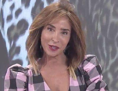 María Patiño, a punto de caerse en pleno directo en 'Socialité'