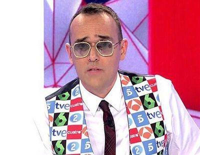 Risto Mejide sorprende promocionando Antena 3 y laSexta en 'Todo es mentira'