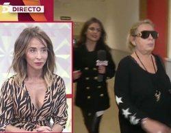 Carmen Borrego ignora a la reportera de 'Socialité' y huye de las cámaras para no hablar con María Patiño