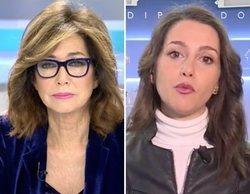 "Inés Arrimadas se confunde y llama ""Susanna"" a Ana Rosa Quintana: ""No te preocupes, antes me llamaban Teresa"""