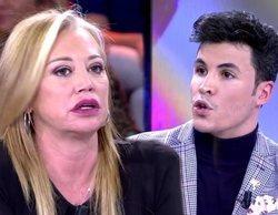 "Belén Esteban se encara con Kiko Jiménez en 'Sábado deluxe': ""El único que ha dormido en un calabozo eres tú"""