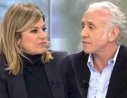 """Eduardo Inda y Esther Palomera se enfrentan en 'El programa de Ana Rosa': """"Siempre insultas a alguien"""""""