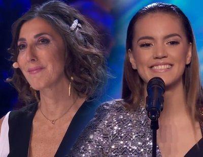 Paz Padilla, emocionada en 'Got Talent' al escuchar el tema de Julia dedicado a su familia