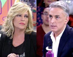"""Lydia Lozano se enfrenta a Kiko Hernández por bromear con su accidente de tráfico: """"Tuve la espalda partida"""""""