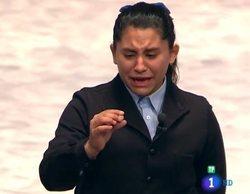 Nerea repite la historia y llora de emoción tras cantar el quinto premio de la Lotería de Navidad