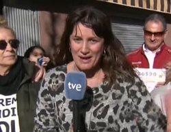"""La reportera viral de la Lotería confiesa que en realidad no ganó el Gordo: """"Me he contagiado de la alegría"""""""