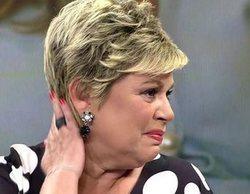Terelu Campos, destrozada y llorando en 'Socialité' por la ruptura de su madre María Teresa