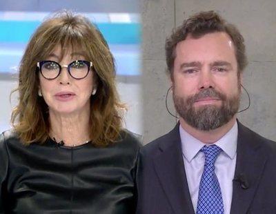 """La reacción de Ana Rosa cuando Espinosa de los Monteros llama """"especímenes"""" a Podemos"""