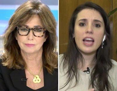 """Tensión entre Ana Rosa e Irene Montero: """"Eso es responsabilidad, no mentir a nadie"""""""