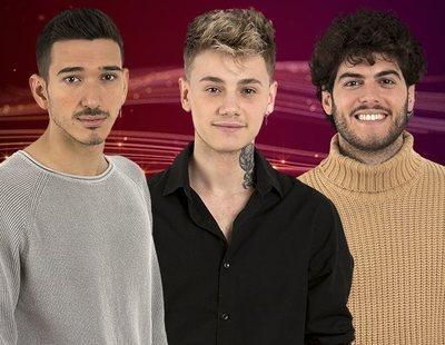 Bruno, Hugo y Rafa, concursantes nominados de la Gala 6 de 'OT 2020'