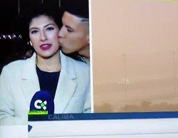 Condenado el hombre que acosó a una reportera de RTVC besándola en directo