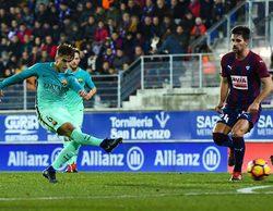 El partido de la Liga Española entre el Eibar-Barcelona arrasa en Movistar +
