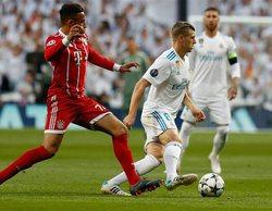 Antena 3 arrasa en el prime time con un 33% gracias al partido Real Madrid - Bayern