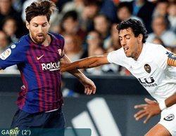 El Valencia - Barcelona de la Liga Española lidera con un 7,7% en Movistar Partidazo