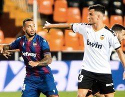 El fútbol vuelve con fuerza y el Valencia-Levante (1,6%) es el partido más visto en Movistar LaLiga