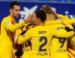 La sufrida victoria del Barça sobre el Huesca, lo más visto en Movistar+