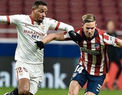 El enfrentamiento Atlético de Madrid - Sevilla (3,5%) vence en horario de máxima audiencia