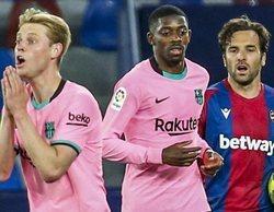 La liga española vuelve a liderar en el mundo de pago con el empate entre el Levante y el Barcelona (6%)
