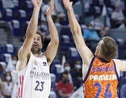 La Liga ACB de baloncesto lidera de nuevo con el partido entre el Real Madrid y el Valencia (1,2%)