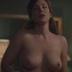 Erin Cummings, desnuda, enseña las tetas en 'Masters of sex'