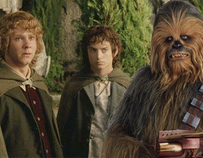 Chewbacca cumple su sueño al conocer a los hobbits de 'El señor de los Anillos'