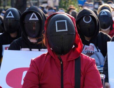 'El Juego del Calamar' se convierte en icono de protesta para los sindicatos en Corea del Sur