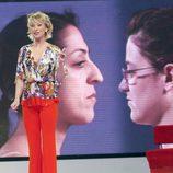 Teresa Viejo mientras que presenta 'Cambio Radical'