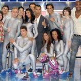 Concursantes de 'Nadie es perfecto' con Jesús Vázquez