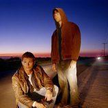 Imagen promocional de Supernatural con Jared Padalecki y Jensen Ackles