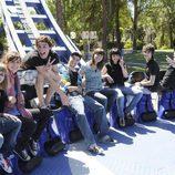 Los chicos de la serie de Antena 3 en el Parque de Atracciones de Madrid