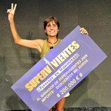 Maite Zúñiga, ganadora del concurso de supervivencia