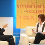 Jose Luis Rodríguez Zapatero acude a 'Las mañanas de Cuatro' con Concha García Campoy