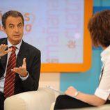 Jose Luis Rodríguez Zapatero entrevistado por Concha García Campoy