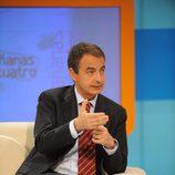El político Jose Luis Rodríguez Zapatero acude a 'Las mañanas de Cuatro'
