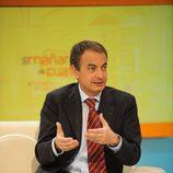 Jose Luis Rodríguez Zapatero acude a 'Las mañanas de Cuatro'