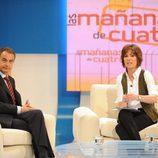 Jose Luis Rodríguez Zapatero en una entrevista con Concha García Campoy