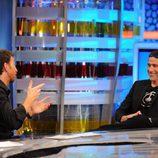 Matthew Fox en su visita a 'El Hormiguero' con Pablo Motos