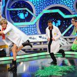 Sacha Baron Cohen (Brüno) en 'El hormiguero' bailando con Flipy