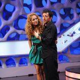 Paulina Rubio junto a Pablo Motos en 'El Hormiguero'